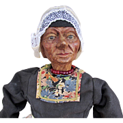 "16"" Carved Wooden Doll by Huggler, Switzerland"