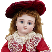 "18"" Early French bisque Bebe Jules Steiner, Rare Series A,"