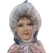 "Rare 15"" Dolly Varden Cloth Doll."