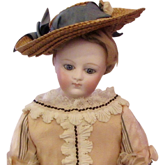 """13"""" French Bisque Poupee with Endearing Expression"""