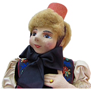"19"" German Felt Doll by Elsa Hecht, Munich Artist"
