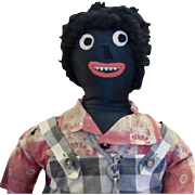 "30"" Vintage Black Cloth Doll"