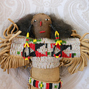 Native American Doll with Elaborate Beading - Red Tag Sale Item