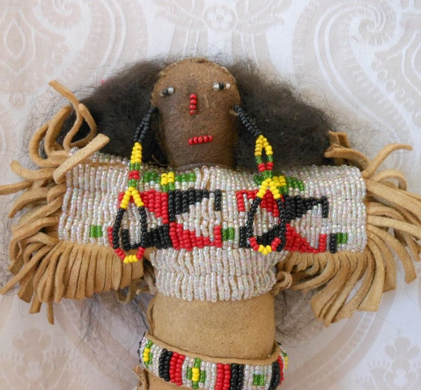 Native American Doll with Elaborate Beading