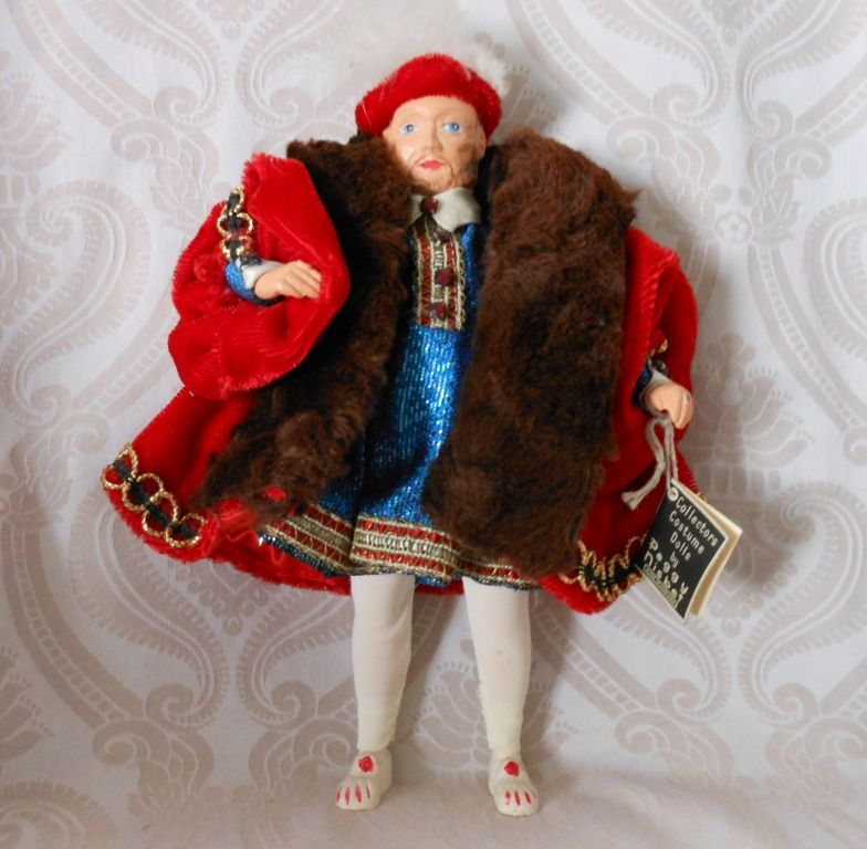 Henry VIII Collectors Costume Doll by Artist Peggy Nesbit