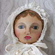 Oil Painted Face Cloth Doll by Artist Jean Rousse