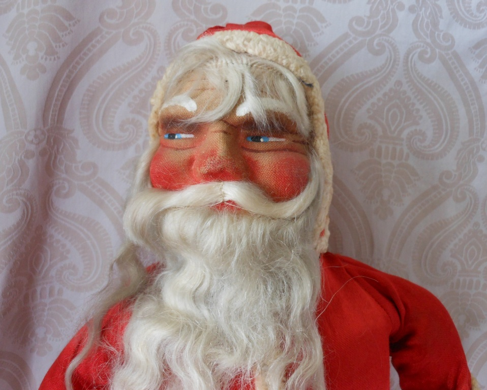 Vintage Mask Face Santa Claus