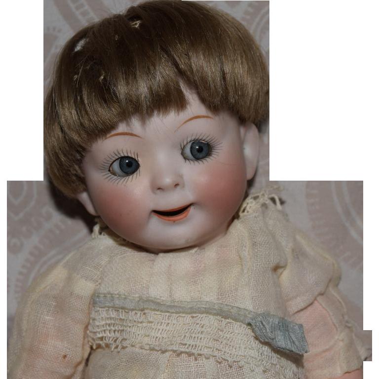Hertel Schwab Bisque Head Jubilee Googly Eye Baby in Original Condition