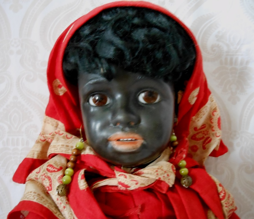 Fabulous Museum Quality All Original Simon & Halbig Black Character Doll