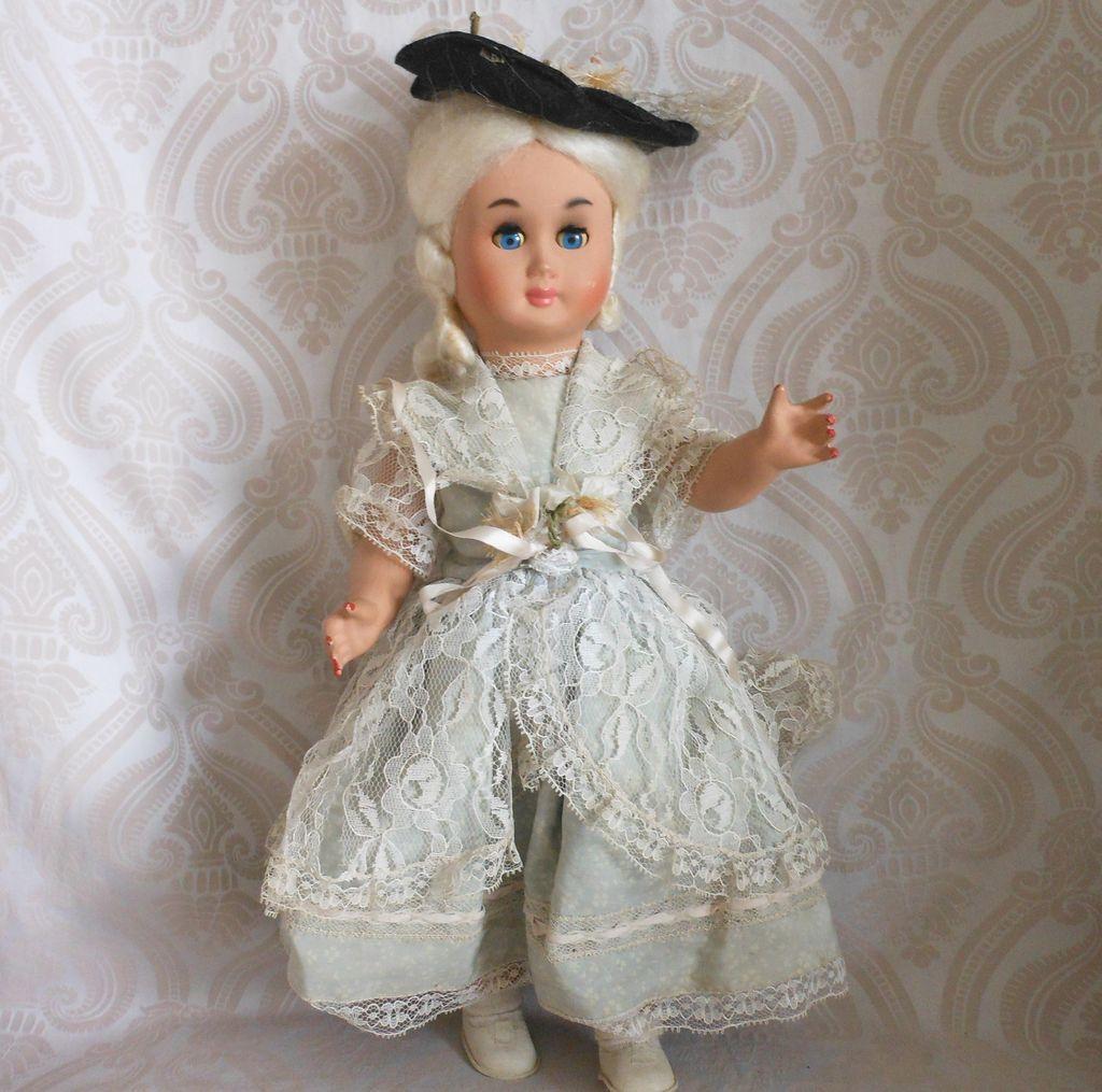 Vintage Hard Plastic Doll In Original Costume From Joan