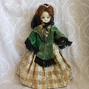 Sweet and Petite Wax over Composition German Antique Doll