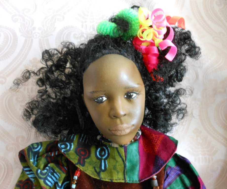 Fanciful Black Porcelain One of a Kind Artist Doll