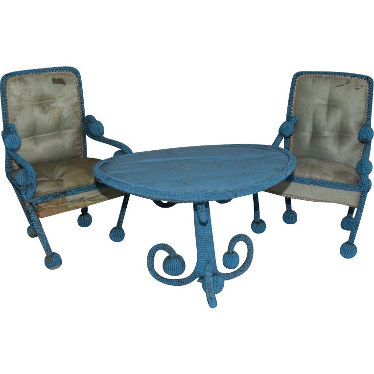 Victorian Beaded Furniture Set