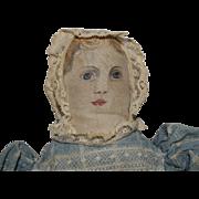 Petite Painted Face Cloth Folk Art Doll