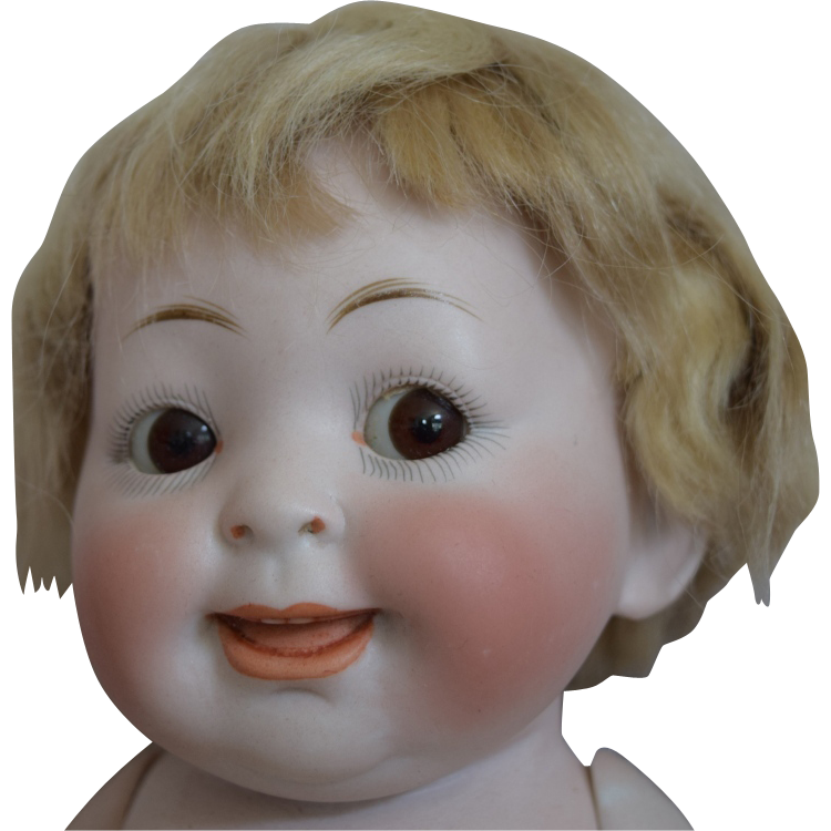 Large German Our Fairy All Bisque Googly Doll
