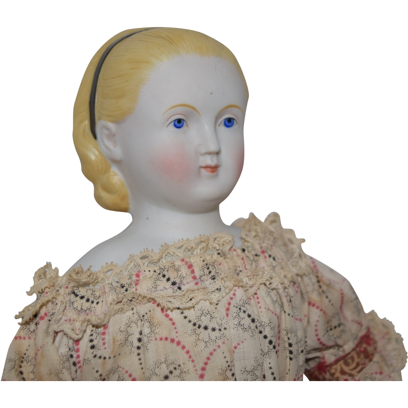 Antique Parian Bisque Head Doll with Alice Hairstyle by ABG