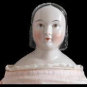 Beautiful Sofia Smith Style Glazed Porcelain China Head Doll by Kestner