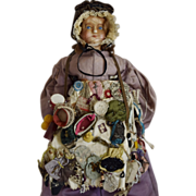 Museum Quality All Original English Wax Peddler Doll