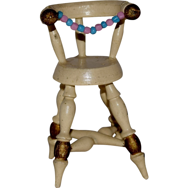 Darling Wooden German Doll House High Chair For Baby