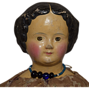 Sonneberg Type Superior German Papier Mache Head Doll