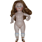 German Wrestler Type All Bisque Doll