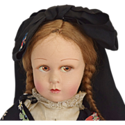 Pristine French Cloth Doll by Poupees Raynal