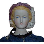 Alt, Beck & Gottschalck Parian Bisque Head Lady Doll Empress Eugenie