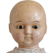 Early German Wax over Papier Mache Taufling Baby