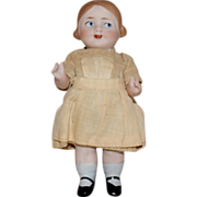 German All Bisque Googly Character Doll