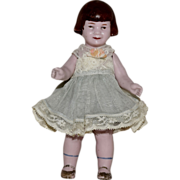 Rare Baby Peggy German All Bisque Character Doll