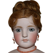 Kling German Bisque Head Lady Doll in a Grand Size