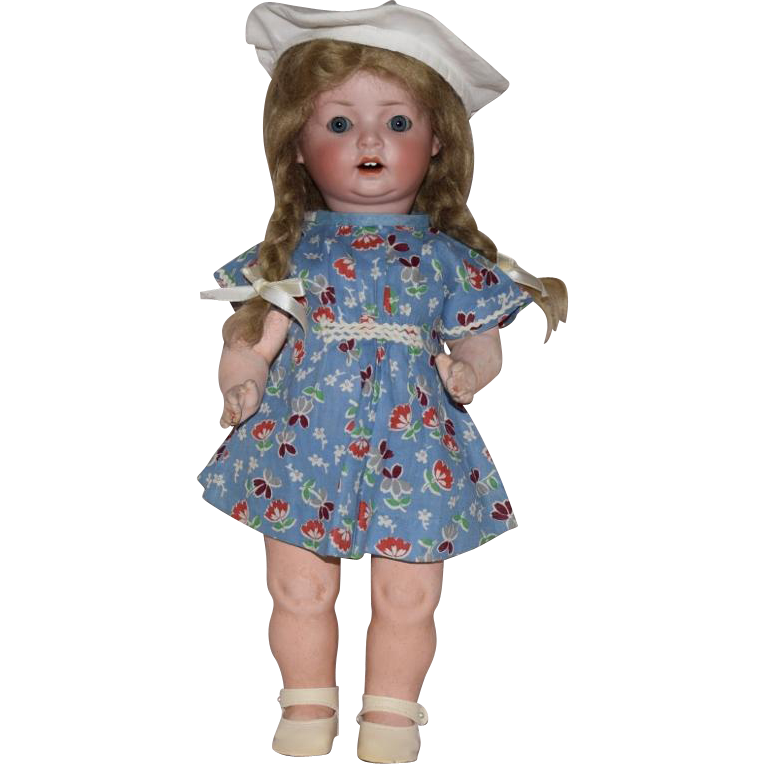 "Schoenau & Hoffmeister German Bisque Head Character Doll ""Hanna"""