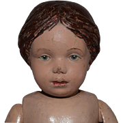 Carved Hair Wooden Schoenhut Doll in Need of Love