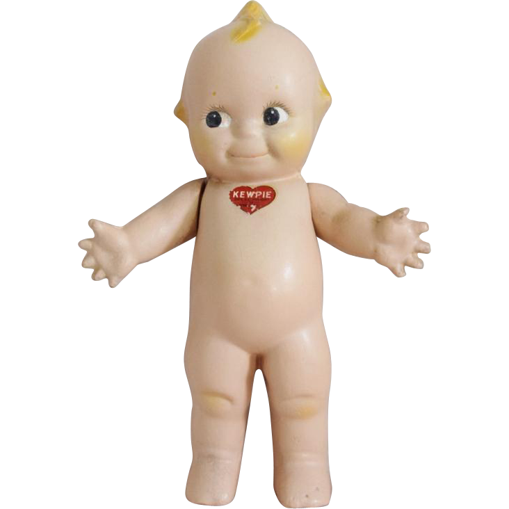 Composition Kewpie with Blue Wings