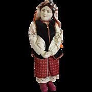 "Russian Stockinette Cloth Doll ""Ukrainian Woman"""