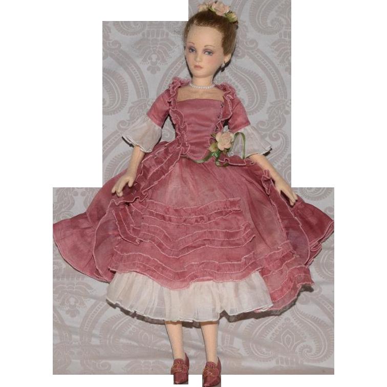 Columbine Artist Felt Doll by R. John Wright Dolls