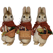 Flopsy, Mopsy, & Cotton-Tail Bunny Rabbits by R. John Wright Dolls