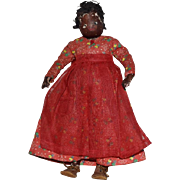 Dark Brown Leather Folk Art Doll