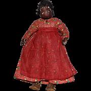 Dark Brown Leather Folk Art Doll