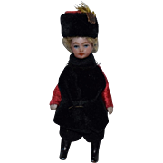All Original Les Lilliputian French All Bisque Cossack Doll