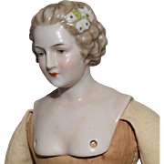 German China Shoulder Head Lady Doll with Hair Decoration