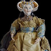 "Kathy Redmond Glazed Porcelain Artist Doll ""Elain"""