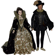 Historical Artist Dolls of Queen Elizabeth and Sir Walter Raleigh