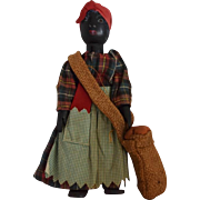 All Original Vintage Black Americana Wooden Doll