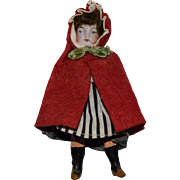 Petite German Bisque Little Red Riding Hood Doll