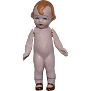 """German All Bisque Character Doll """"Mibs"""" by Amberg"""