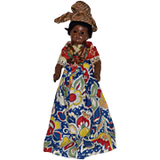 Unis France Brown Painted Bisque Doll in Original Ethnic Costume
