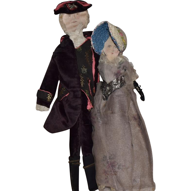 Colonial Couple Cloth Dolls