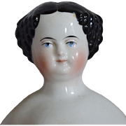 Alt, Beck & Gottschalck Glazed Porcelain China Head Doll