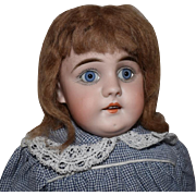 Early German Square Tooth Bisque Head Doll by Kestner
